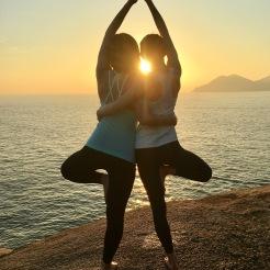 KrisYoga - Outdoor Yoga, Partner Tree Pose, Hong Kong