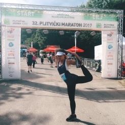 KrisYoga - Yoga for Runners, Mermaid Dancer's Pose, Croatia