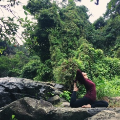 KrisYoga - Outdoor Yoga, King Pigeon Pose, Hong Kong