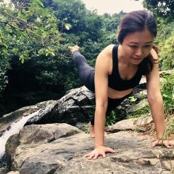 KrisYoga - Outdoor Yoga, Three-leg Plank, Hong Kong