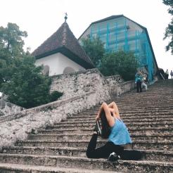 KrisYoga - Travel Yoga, Pigeon Pose, Slovenia
