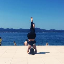 KrisYoga - Headstand with Eagle Legs, Croatia