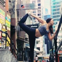 KrisYoga, Street Yoga, Dancer's Pose, Hong Kong