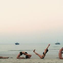 KrisYoga - Beach Yoga, Group Yoga Pose, Thailand