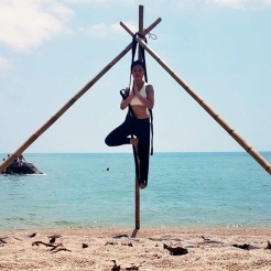 KrisYoga - Aerial Yoga, Tree Pose, Thailand