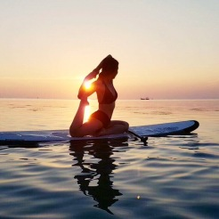 KrisYoga - Sup Yoga, Mermaid Pigeon Pose, Thailand