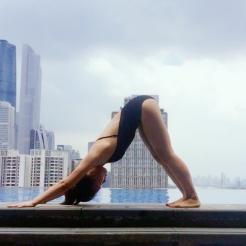 KrisYoga - Poolside Yoga, Downward Facing Dog, Guangzhou