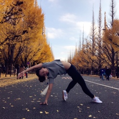 KrisYoga - Travel Yoga, Wild Thing Pose, Tokyo