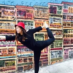 KrisYoga - Street Yoga, Dancer's Pose, Hong Kong