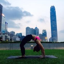 KrisYoga - Outdoor Yoga, Wheel Pose, HK