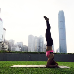 KrisYoga- Outdoor Yoga, Headstand, HK
