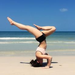 KrisYoga, Beach Yoga, Tripod Headstand, Thailand